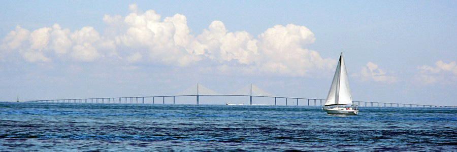 Zig Zag with the Sunshine Skyway in the background